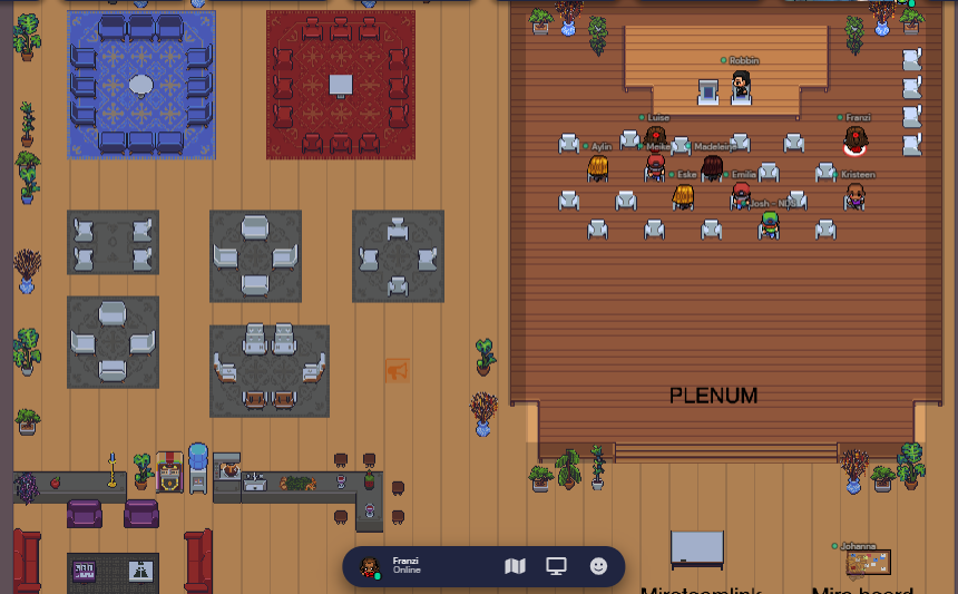 Ein Workshopraum